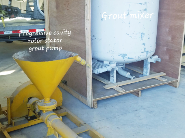 Grout Scouts - Progressive cavity rotor stator grout pump. Grout mixer